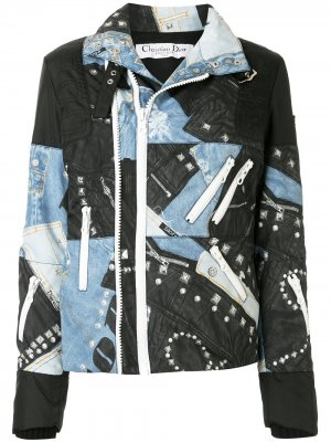 Джинсовая куртка на молнии pre-owned Christian Dior. Цвет: разноцветный