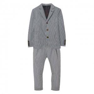 Костюм из пиджака и брюк Brunello Cucinelli. Цвет: синий