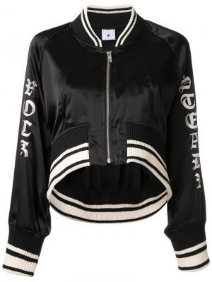 Укороченная куртка-бомбер Maison Mihara Yasuhiro. Цвет: чёрный