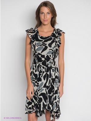 Платье DRS Deerose. Цвет: молочный, серый, черный
