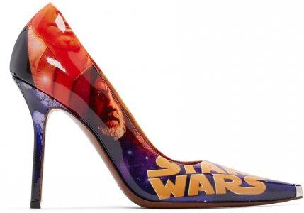 Multicolor STAR WARS Edition Movie Poster Heels VETEMENTS. Цвет: black/white