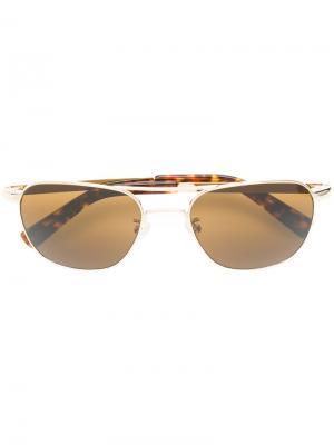 Солнцезащитные очки Zulu Moscot. Цвет: металлический