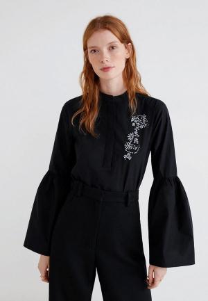 Блуза Mango - SOL-A. Цвет: черный