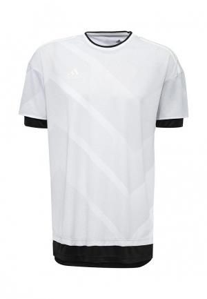 Футболка adidas TANF TRG JSY. Цвет: серый