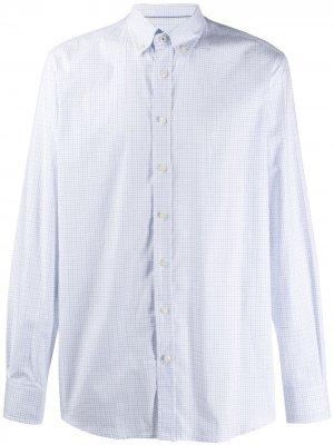 Рубашка в клетку Hackett. Цвет: белый