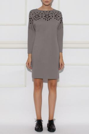 Платье Nissa. Цвет: серый