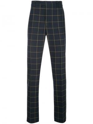 Классические брюки в клетку Calvin Klein 205W39nyc. Цвет: синий