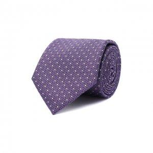 Шелковый галстук Canali. Цвет: фиолетовый