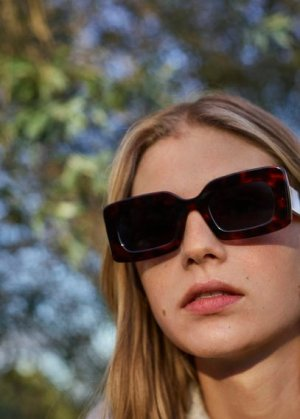 Солнцезащитные очки из ацетата под панцирь черепахи - Carmina Mango. Цвет: шоколадный