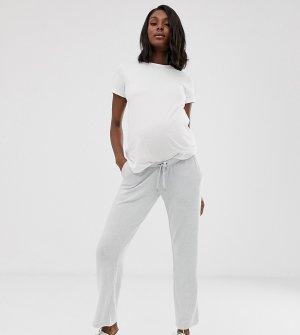 Мягкие трикотажные штаны для дома Mamalicious maternity-Серый Mama.licious