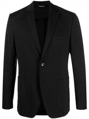 Пиджак строгого кроя Tonello. Цвет: черный