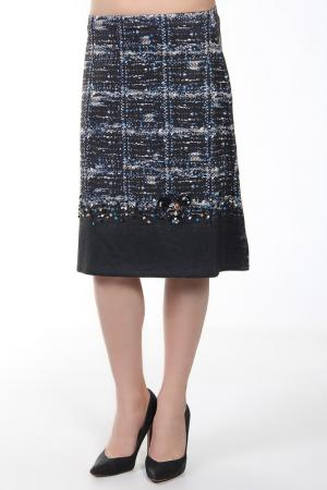 Юбка Philippe Carat. Цвет: синий
