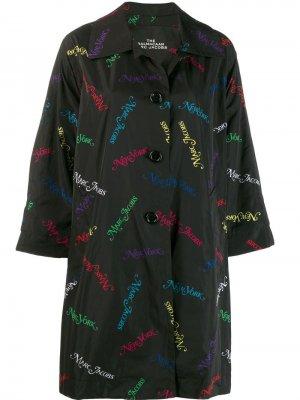Пальто с принтом New York Marc Jacobs. Цвет: черный