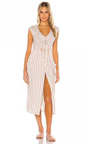 Платье миди jude TAVIK Swimwear. Цвет: кремовый
