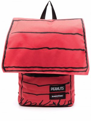 Полосатый рюкзак с нашивкой-логотипом Eastpak. Цвет: красный
