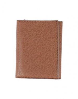 Бумажник CRUCIANI. Цвет: желто-коричневый