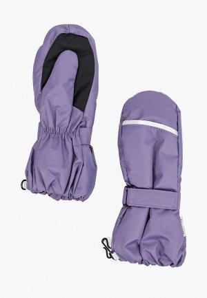 Варежки Nikastyle. Цвет: фиолетовый