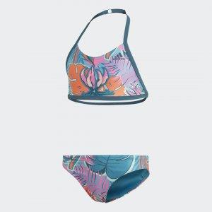 Раздельный купальник Flower Performance adidas. Цвет: разноцветный