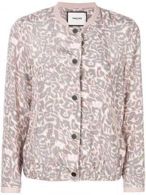 Куртка-бомбер с леопардовым принтом Max & Moi