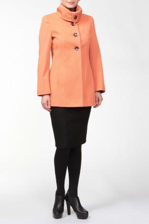 Пальто Амулет. Цвет: оранжевый