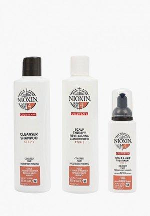 Набор для ухода за волосами Nioxin система 4: шампунь (300 мл), кондиционер мл) и маска (100. Цвет: прозрачный