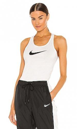 Майка nk dry tk balance Nike. Цвет: белый