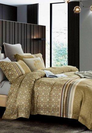 Постельное белье 1,5-спальное Bellehome Беверли. Цвет: золотой