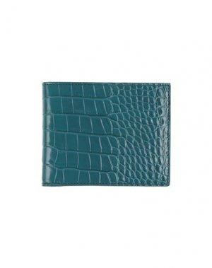 Бумажник TOM FORD. Цвет: цвет морской волны