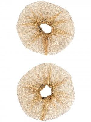 Набор из двух резинок для волос Atu Body Couture. Цвет: золотистый