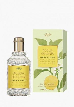 Одеколон 4711 Acqua Colonia Vitalizing - Lemon & Ginger, 50мл. Цвет: прозрачный