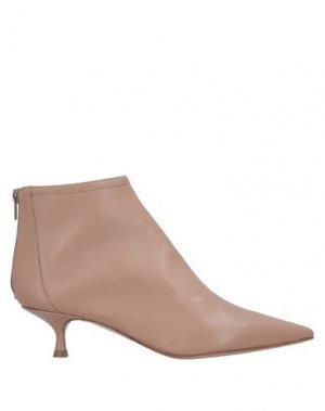 Полусапоги и высокие ботинки ANNA F.. Цвет: телесный