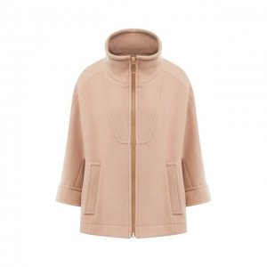 Шерстяное пальто Chloé. Цвет: розовый