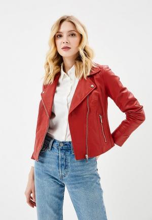 Куртка кожаная Arma AR020EWZSI31. Цвет: красный