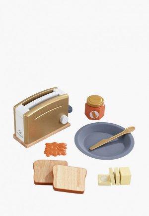 Набор игровой KidKraft техника для кухни Тостер Золото, 8 предметов в наборе. Цвет: разноцветный