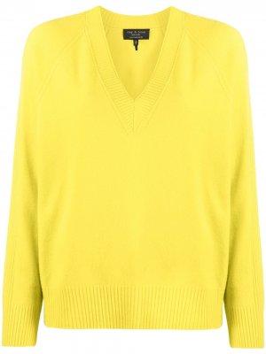 Cashmere V-neck jumper Rag & Bone. Цвет: желтый