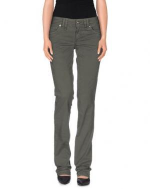 Повседневные брюки GALLIANO. Цвет: зеленый-милитари