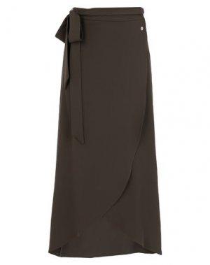 Длинная юбка FLY GIRL. Цвет: зеленый-милитари