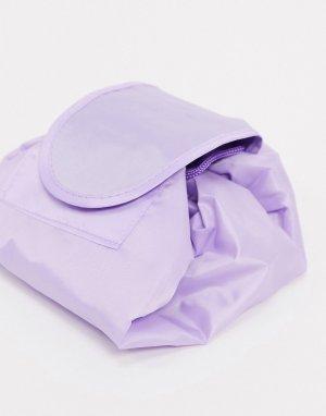 Сиреневая косметичка с затягивающимся шнурком -Фиолетовый SVNX