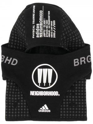 Балаклава со вставками adidas. Цвет: черный