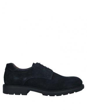 Обувь на шнурках NERO GIARDINI. Цвет: темно-синий