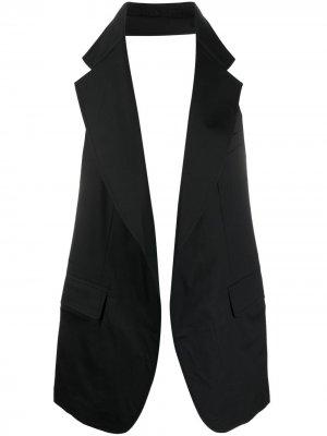 Жилет с заостренными лацканами Comme Des Garçons Shirt. Цвет: черный