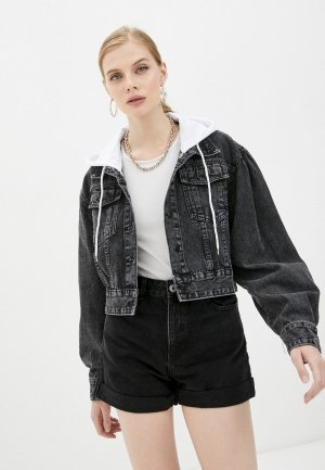 Куртка джинсовая Diverius. Цвет: черный