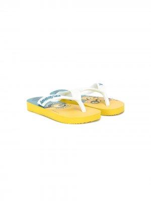 Шлепанцы Minion Havaianas. Цвет: желтый