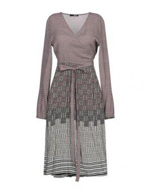 Платье до колена B.YU. Цвет: коричневый