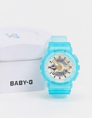 Часы с синим ремешком Baby G BA-110SC-2AER-Синий Casio