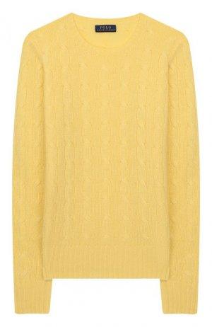 Кашемировый пуловер Polo Ralph Lauren. Цвет: жёлтый