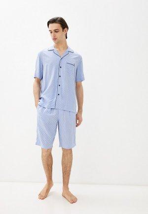 Пижама Henderson. Цвет: голубой