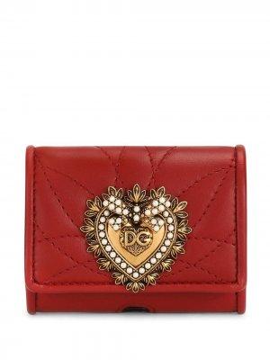 Logo-plaque quilted pouch Dolce & Gabbana. Цвет: красный