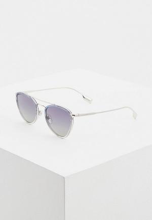Очки солнцезащитные Burberry BE3104 10054L. Цвет: серебряный