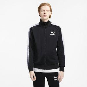 Олимпийка Iconic T7 Mens Track Jacket PUMA. Цвет: черный